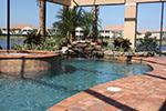 tropical pools and pavers enclosed pool