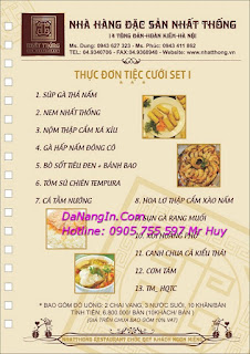 Chuyên làm menu quán nhậu nhà hàng khách sạn tại đà nẵng