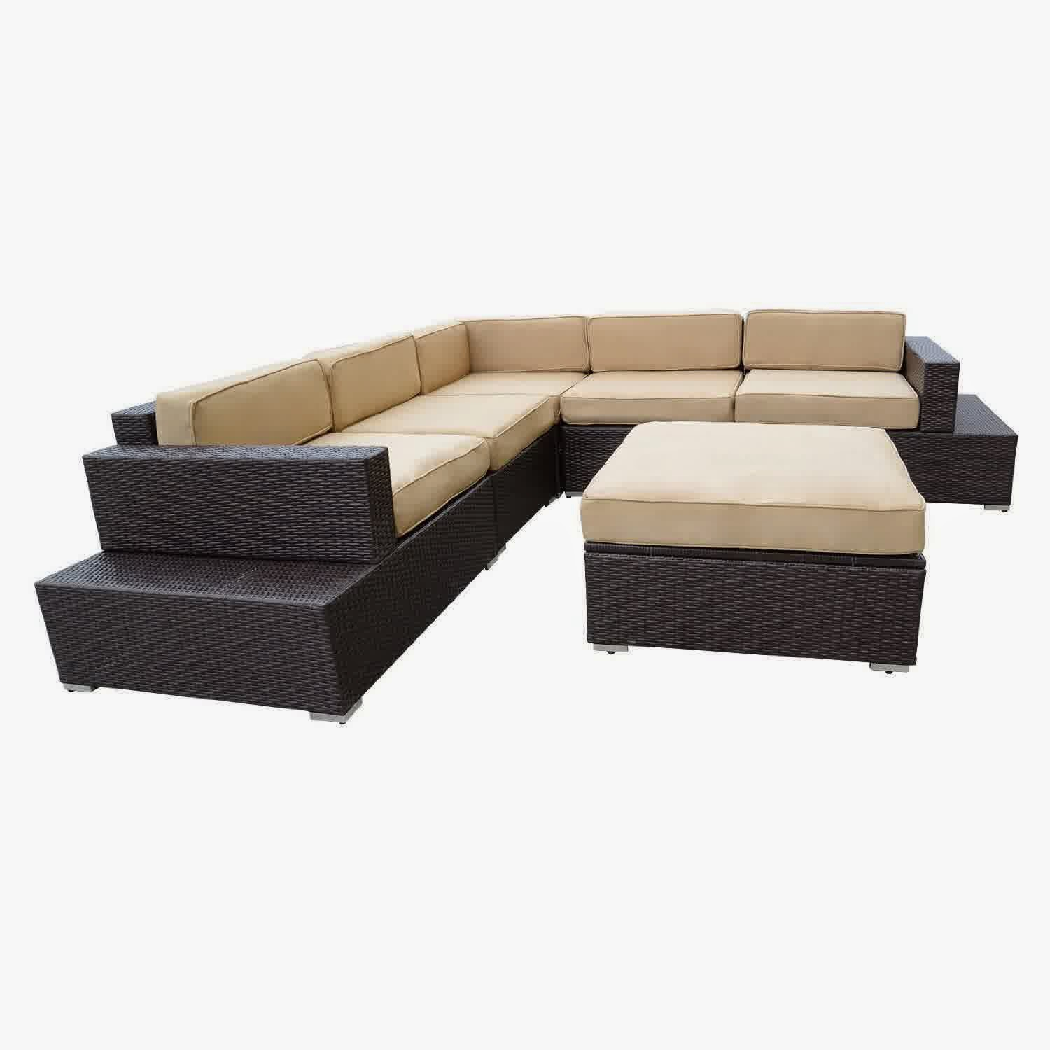 Discount 50% Outdoor Patio Rattan Sofa Wicker Sectional Furniture Sofa ...