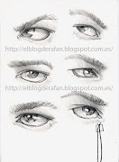 Aquí dejo tres dibujo que tengo a la venta en la página de Big cartel. ojos