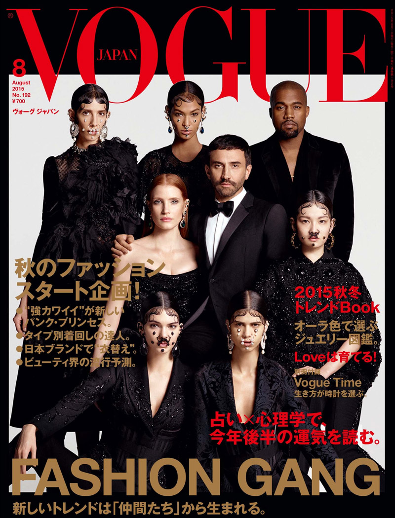 Kendall Jenner and Kanye West cover Vogue Japan with Riccardo Tisci