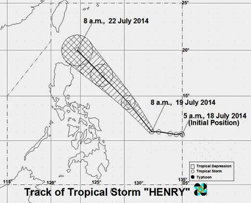 PAGASA releases 'Bagyong Henry' weather update | July 19, 2014