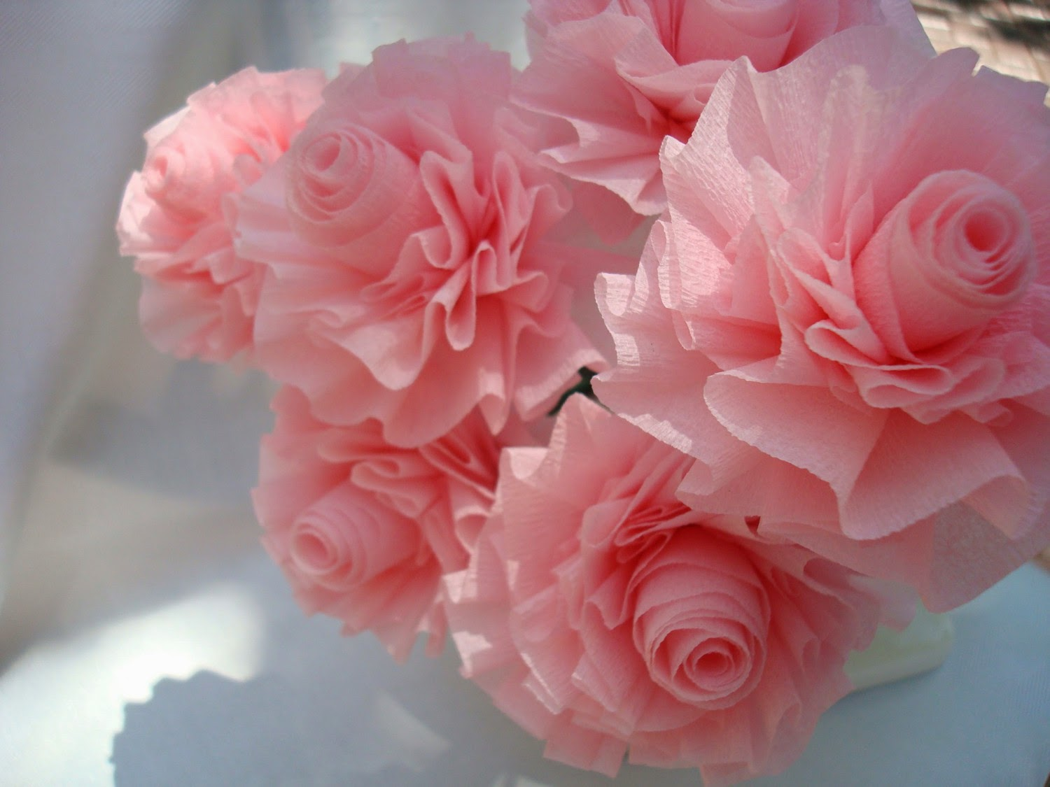 My Own Party Ideas Diy Pink Crepe Paper Rose