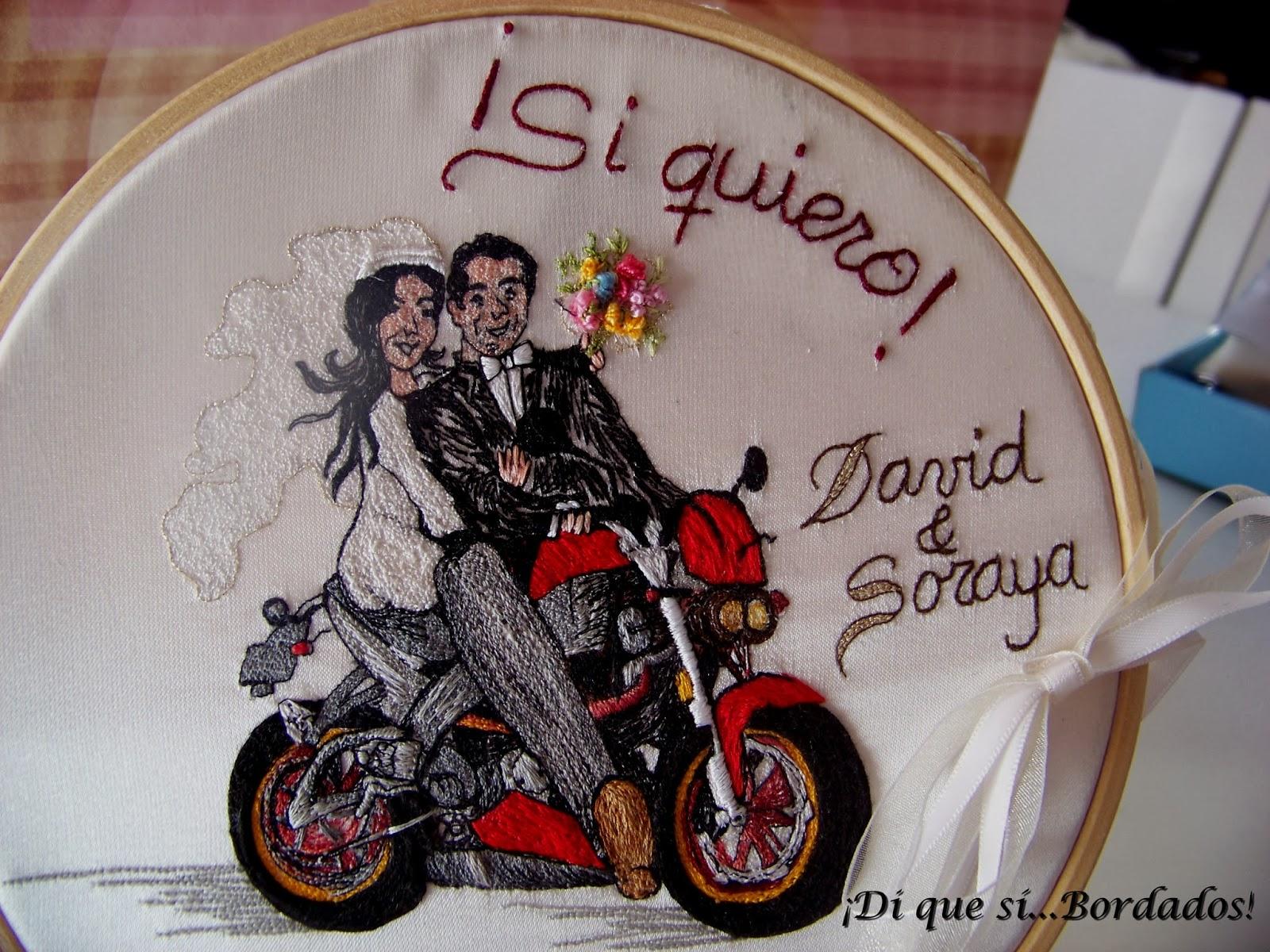 Di que s bordados boda de david y soraya 15 2 2014 for Bordados personalizados madrid