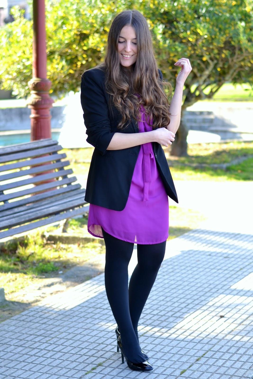 vestido lucloset magenta