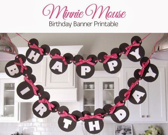 "Minnie: Rótulo de ""Happy Birthday"" para Imprimir Gratis. Tutorial con imprimible."