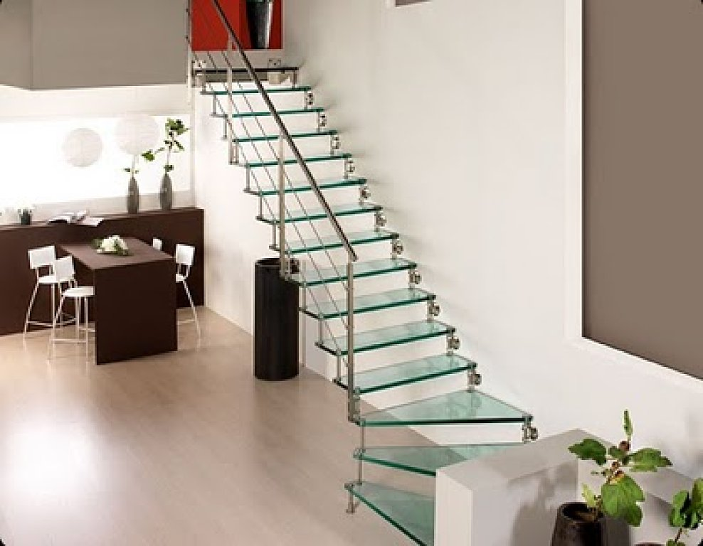Decoracion actual de moda escaleras modernas for Escaleras modernas para casa