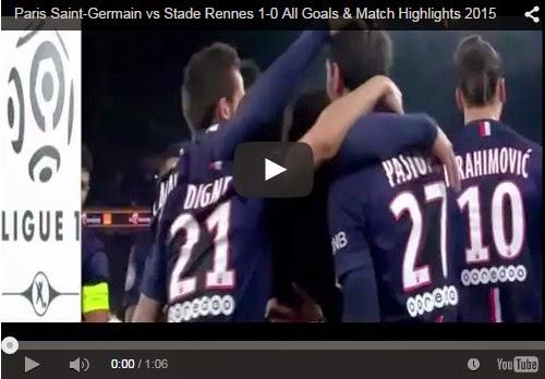 Highlights : PSG 1 – 0 Rennes