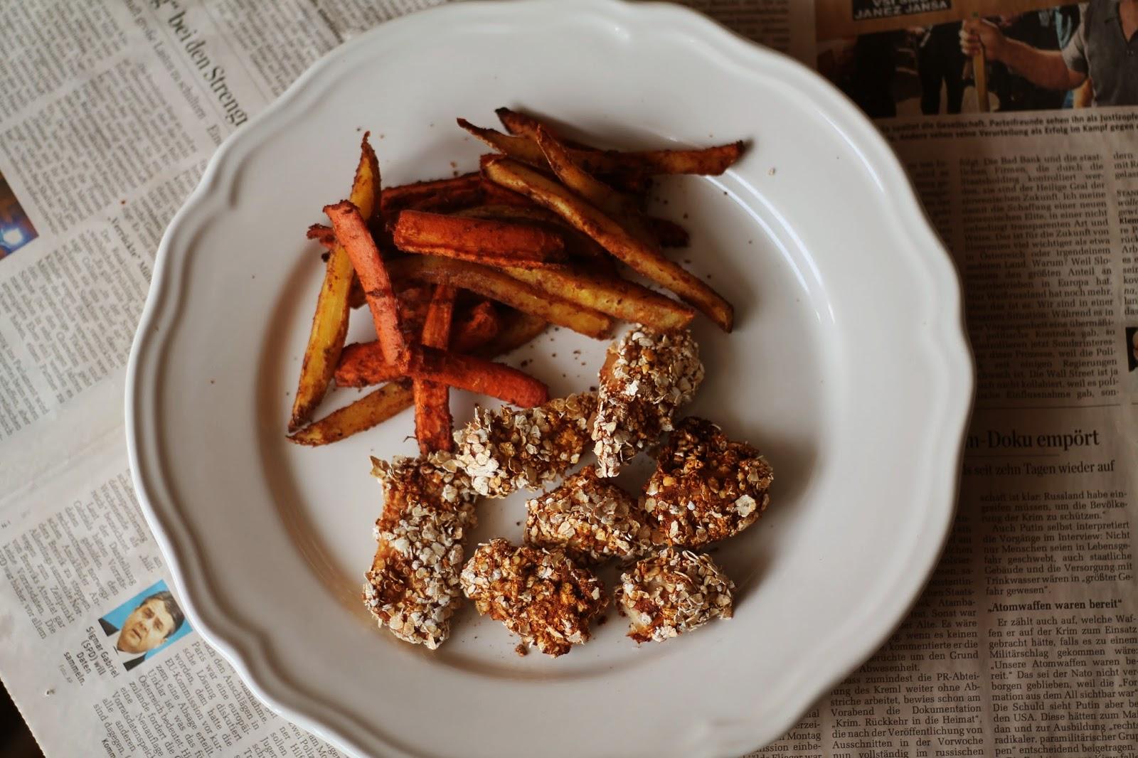 Healthy Pommes Recipe Chicken Nuggets / Gesunde Pommes und Chicken Nuggets Rezept / #svetlanakocht
