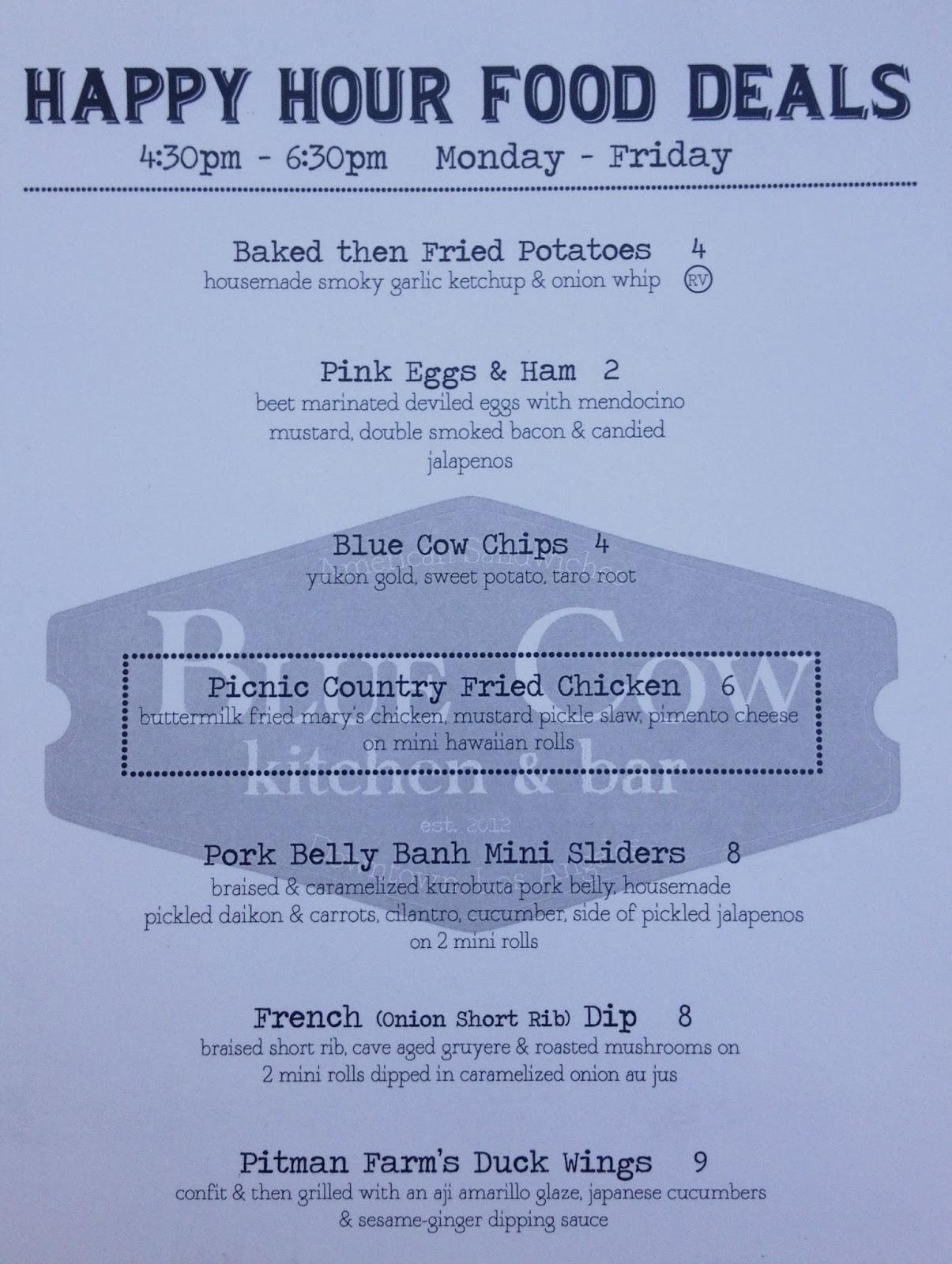 Vixens\' L.A. HAPPY HOURS: Blue Cow Kitchen & Bar