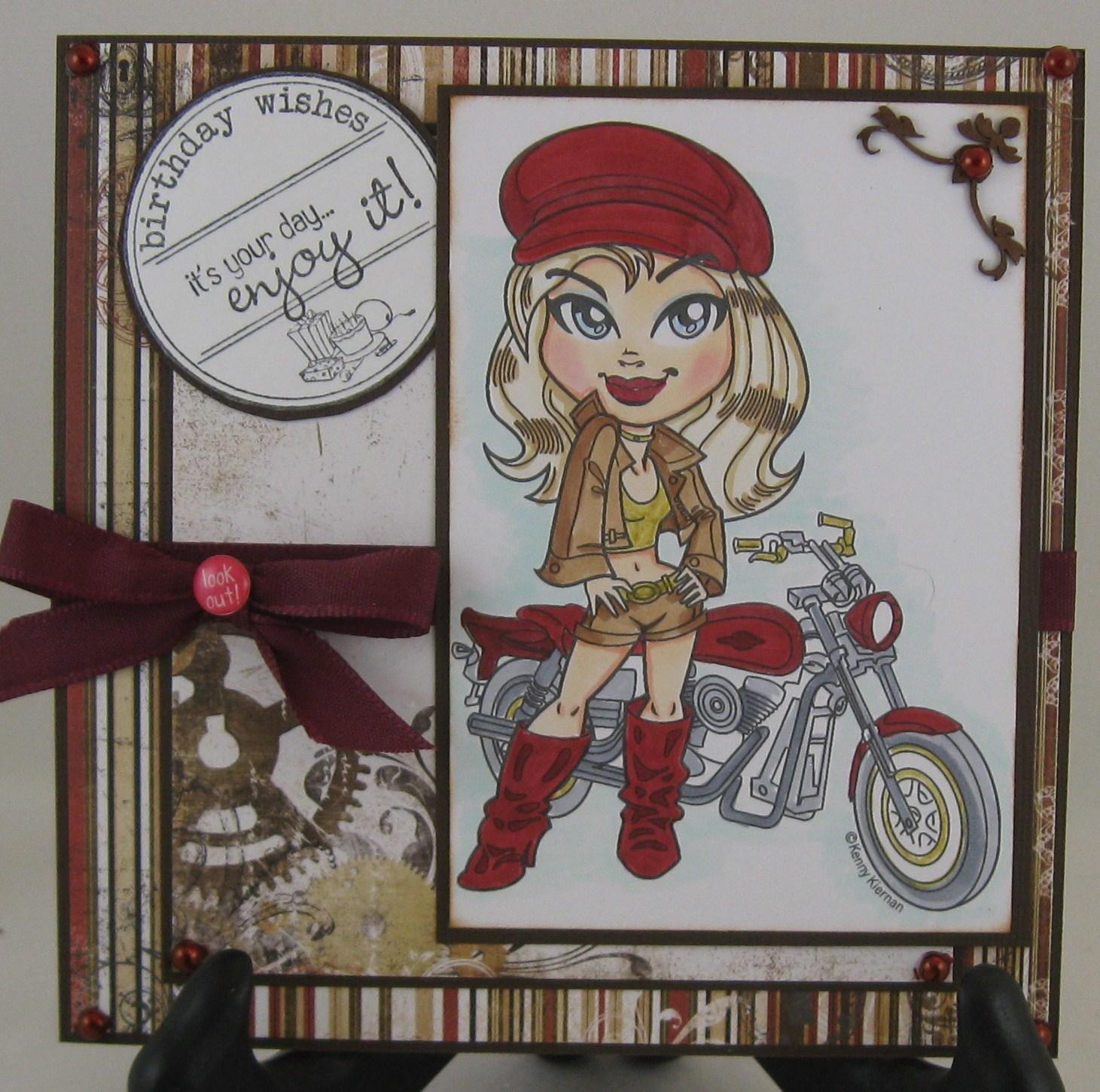 Christina\'s Card Connection: Biker Girl