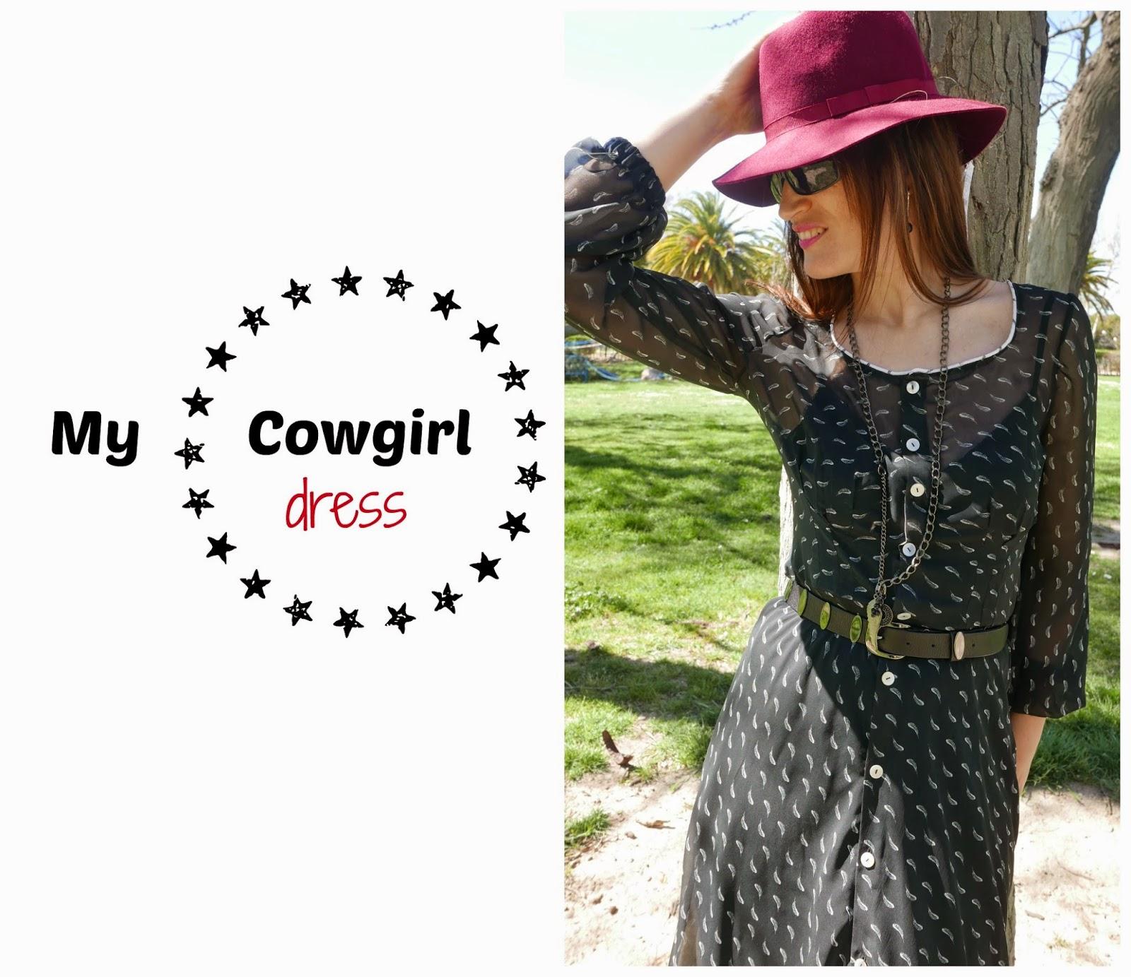 Vestido cowgirl según patrón de Burda