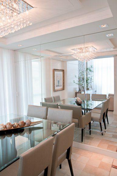 Espelho Para Sala Pequena ~ Decoração 10 salas de jantar com espelhos!  Jeito de Casa