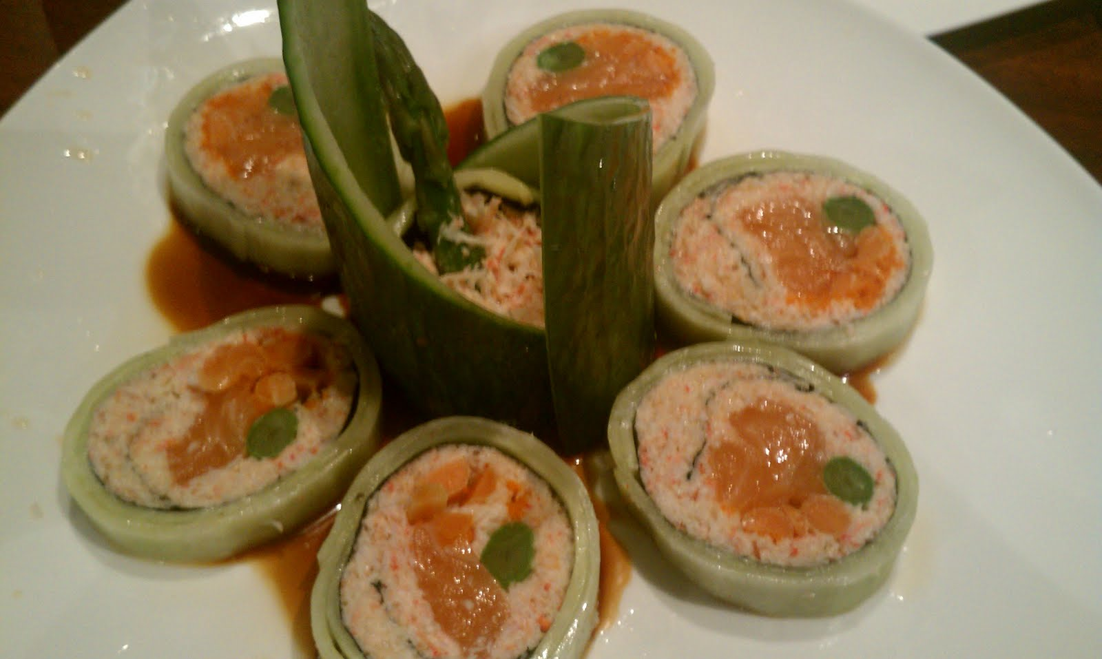 Tso what 39 s cooking restaurant review the blue fish for Blue fish sushi