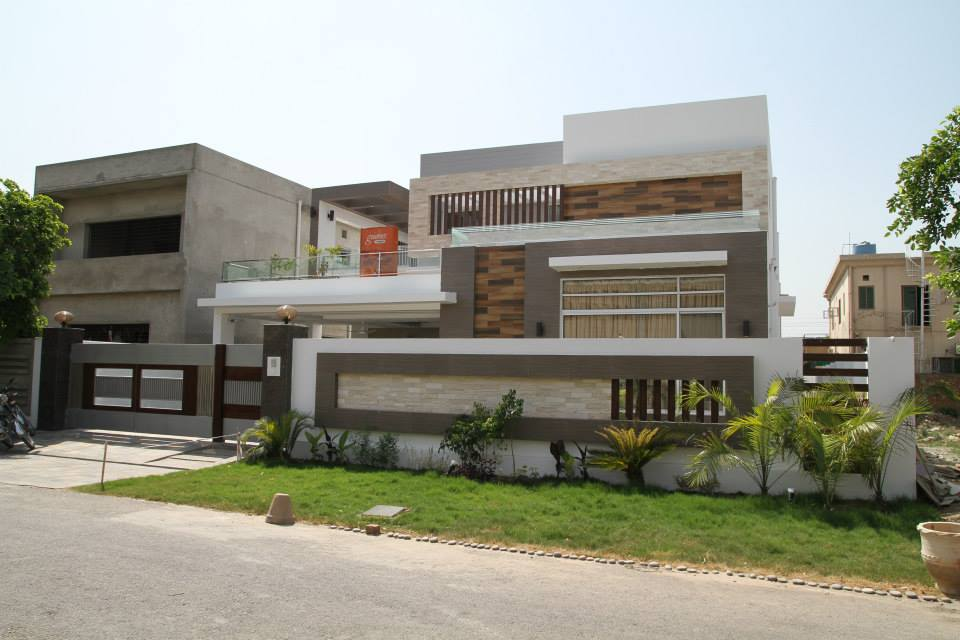 1 kanal modern house for sale 3d front design blog for Modern home front view design