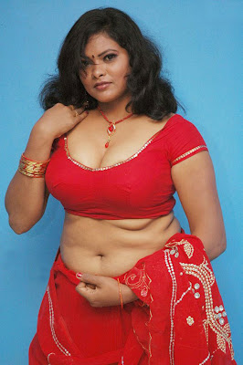 Hot Fat Aunty Saree Below Navel Folds