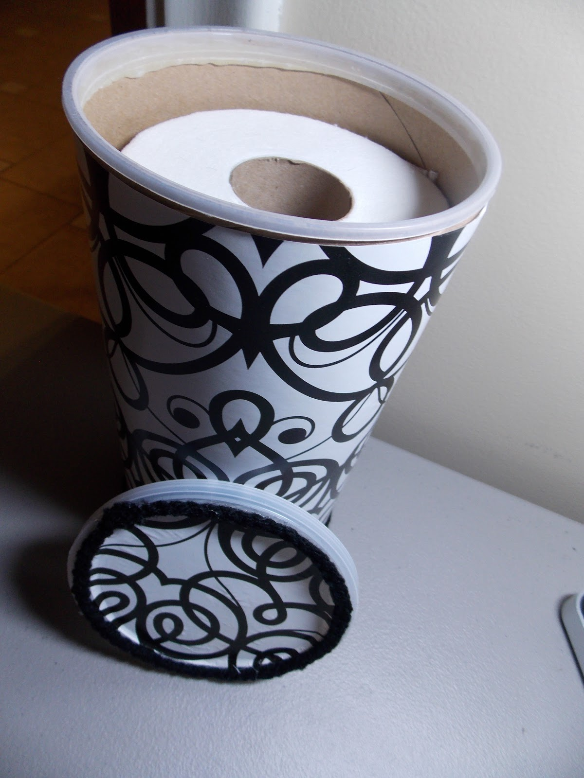 Keep calm and kerri on diy toilet paper holder - Toilet roll canister ...