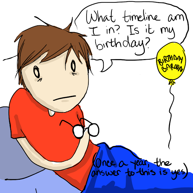 What Timeline Am I In? Is It My Gin Birthday? Comic Panel 2