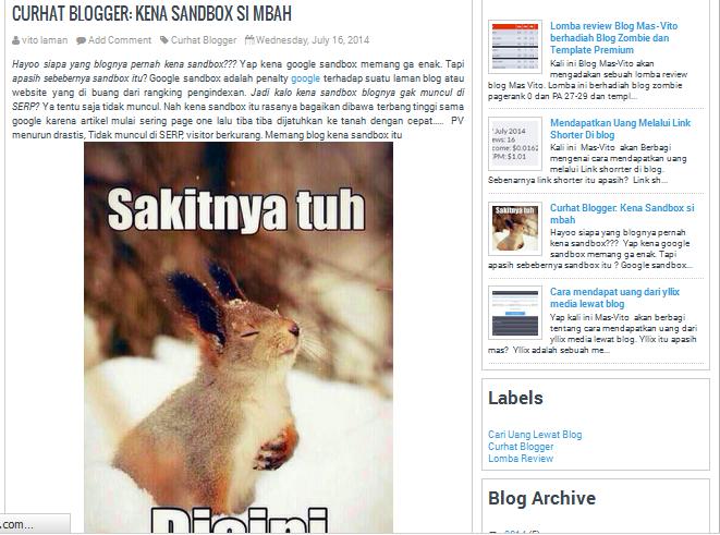 Blog Mas-Vito Tempatnya belajar SEO dan blogging