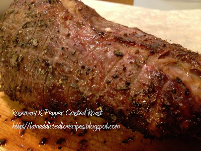 Rosemary & Pepper Crusted Roast - Addicted to Recipes