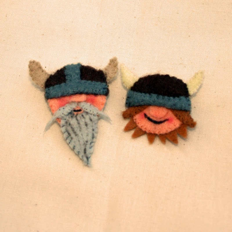 felt viking brooches