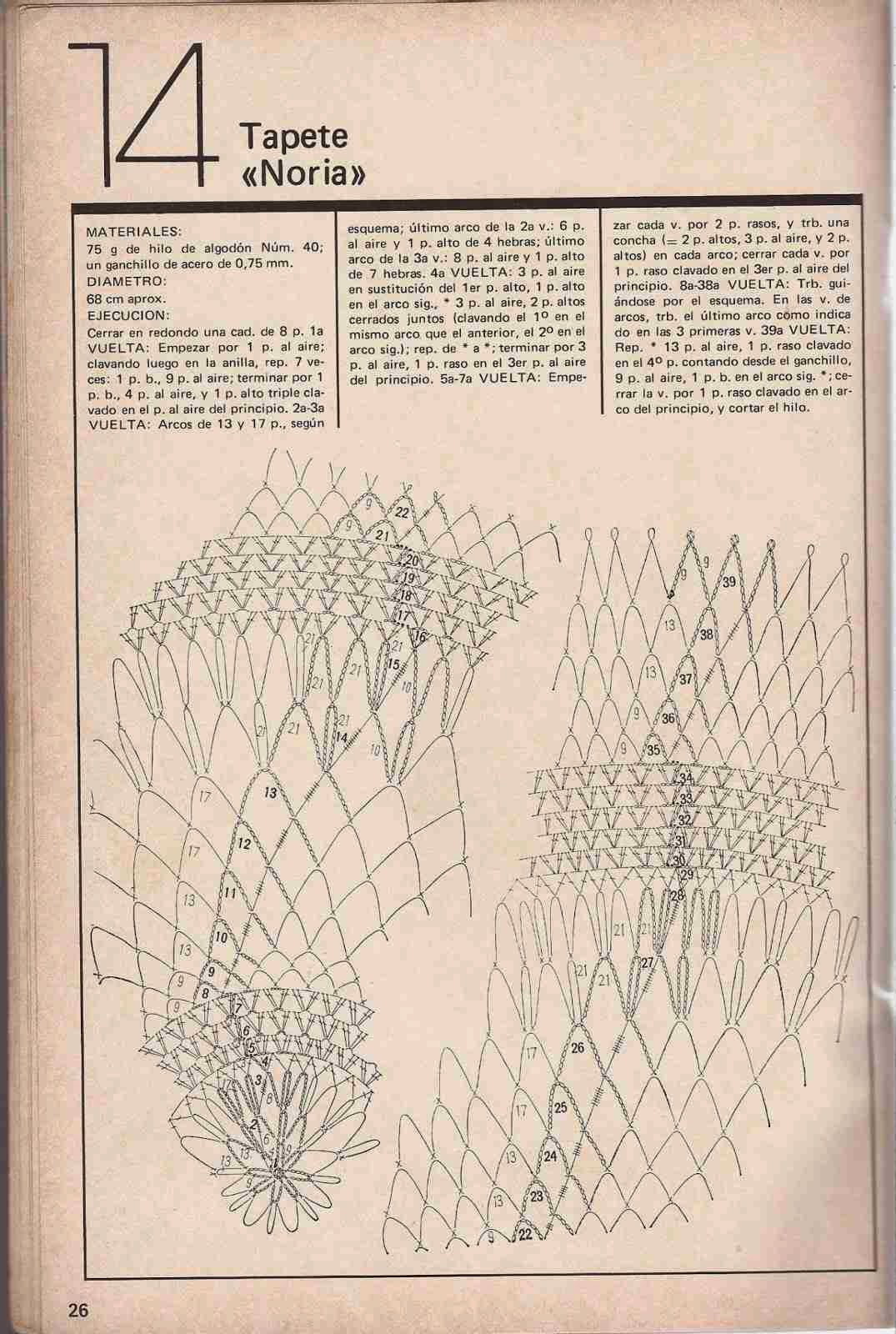 "#43 Tapete a Crochet ""Noria"""