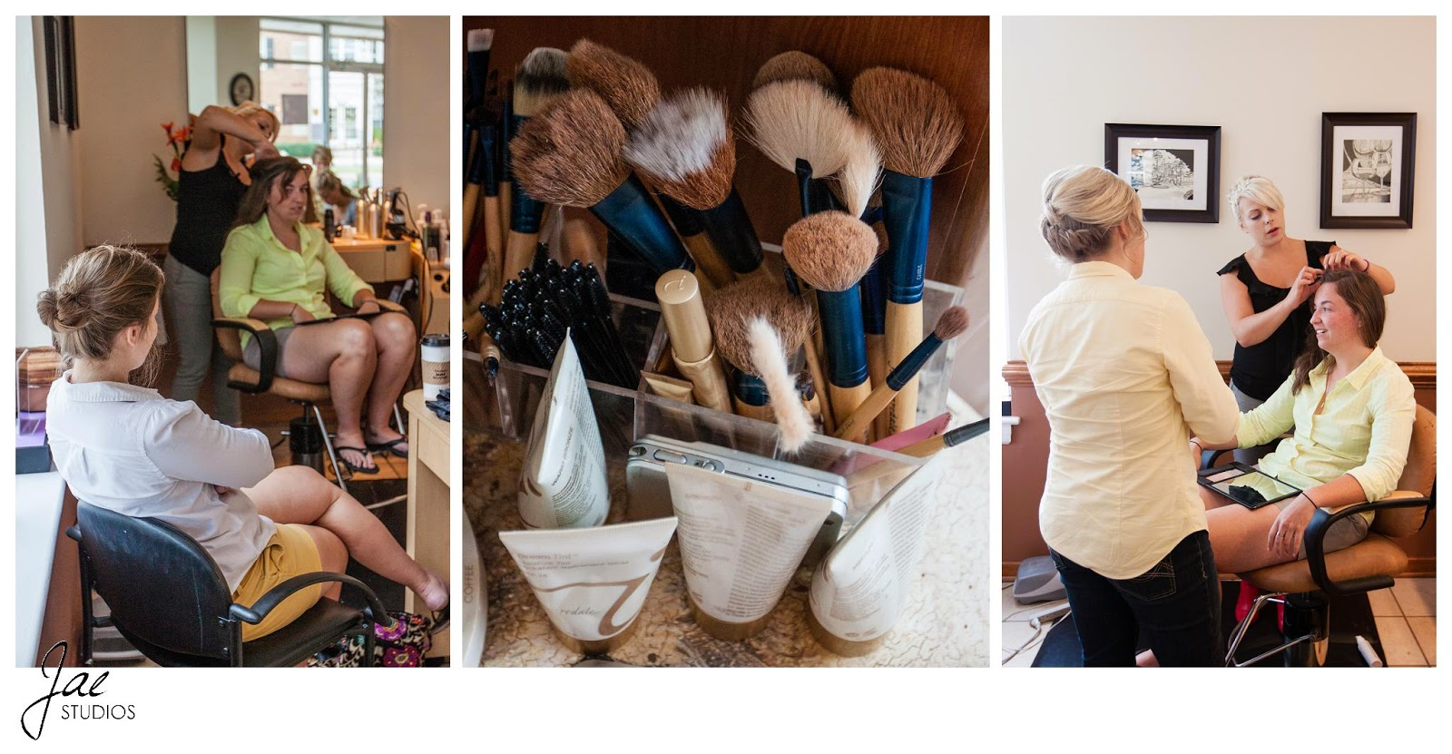 Jonathan and Julie, Bird cage, West Manor Estate, Wedding, Lynchburg, Virginia, Jae Studios, bride, wedding party, bridesmaids, makeup, hair, style, getting ready, preparing, yellow, green, while, purple