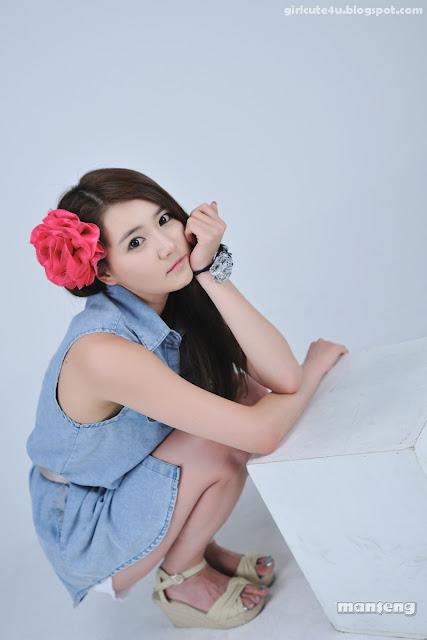 5 Han-Ga-Eun-Denim-Shirt-01-very cute asian girl-girlcute4u.blogspot.com