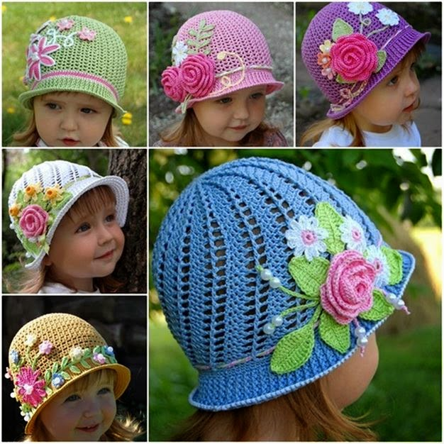 Free Crochet Summer Hat Patterns For Adults : Wonderful Crochet Panama Hats For Girls Creative Ideas