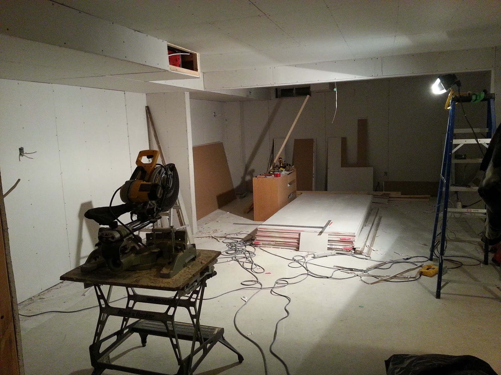 basement project november 5 drywall cont