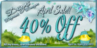 40% OFF APRIL GENERAL SALE