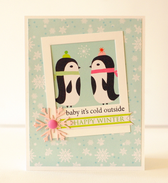 Leigh Penner Chickaniddy Crafts Penguin Card