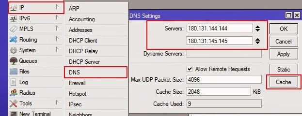 Masukkan DNS Server Nawala