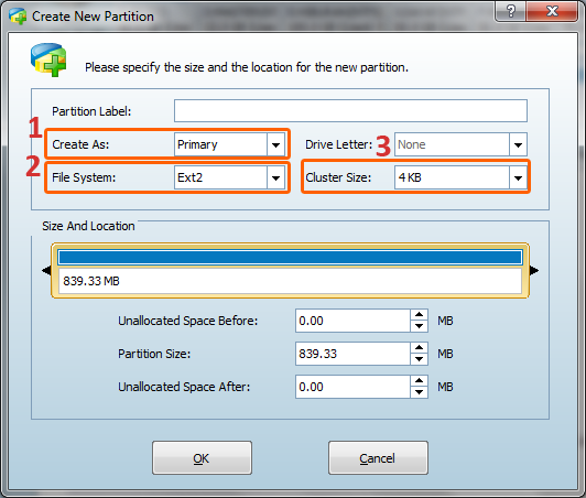 how to create second partition on sd card