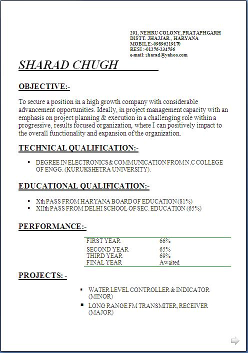 a cv template free download