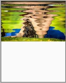 Efek Bayangan Objek Diatas Air