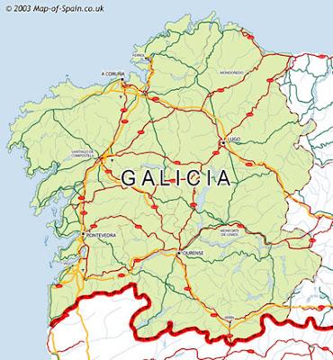 Galicia Tourism Map Area