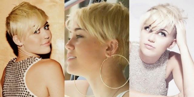 model rambut Miley Cyrus