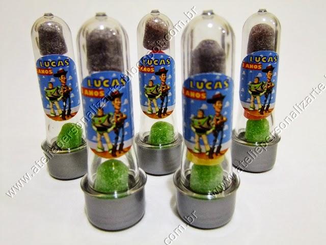 Lembrancinhas Personalizadas Toy Story Tubinhos