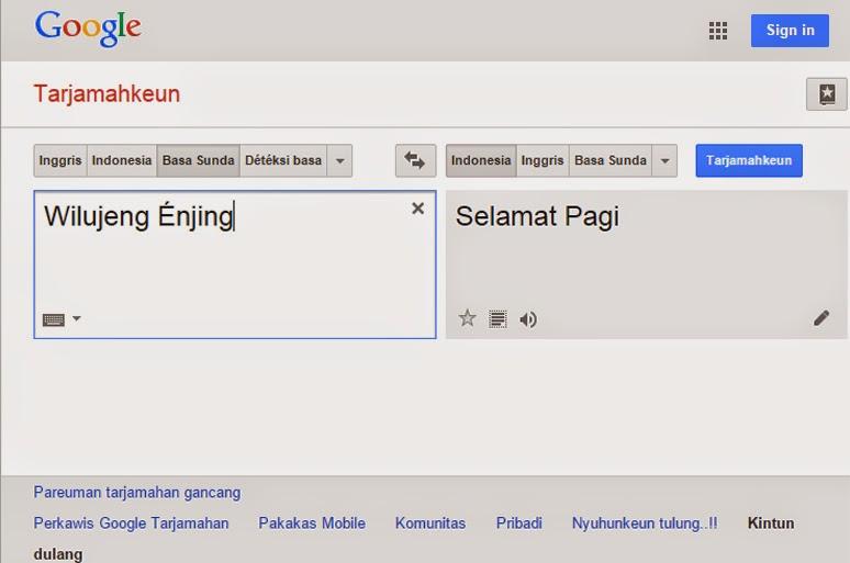 Google Translate Basa Sunda Kakarut Com