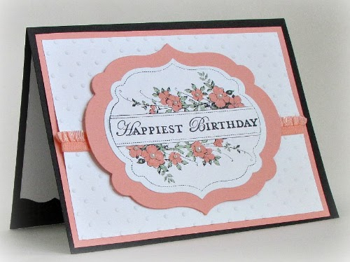 Delicate and sweet birthday card. #papercrafts #stamping #StampinUp