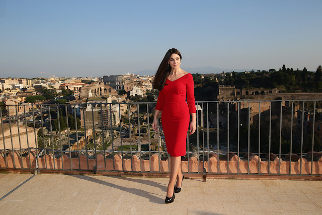 Monica Bellucci commences filming in Rome, Italy for the 24th James Bond adventure SPECTRE