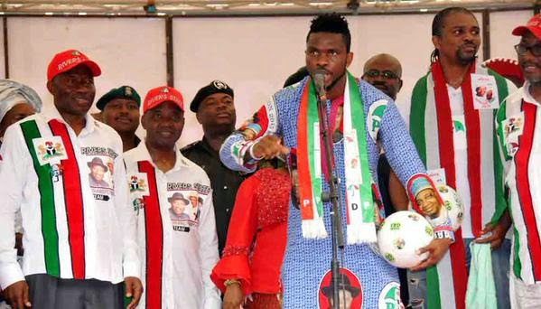 Kanu Nwankwo, Joseph Yobo, Others At PDP Presidential Campaign In Rivers