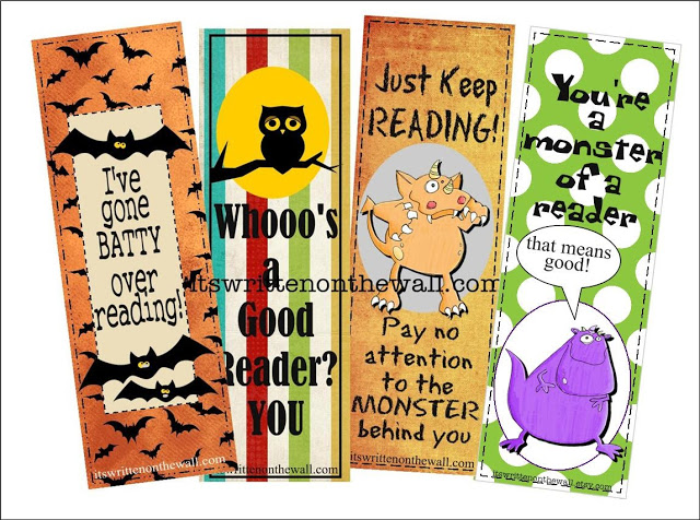 Sugar-Free Treat-12 Halloween Bookmarks