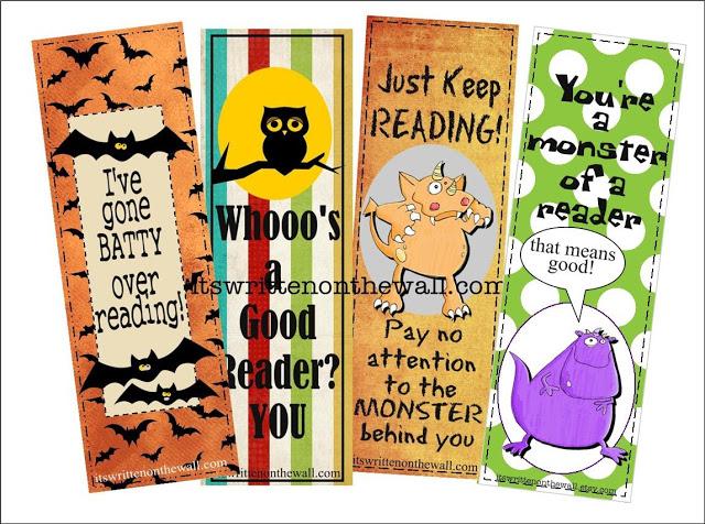 Sugar-Free Treat-12 Halloween Bookmarks