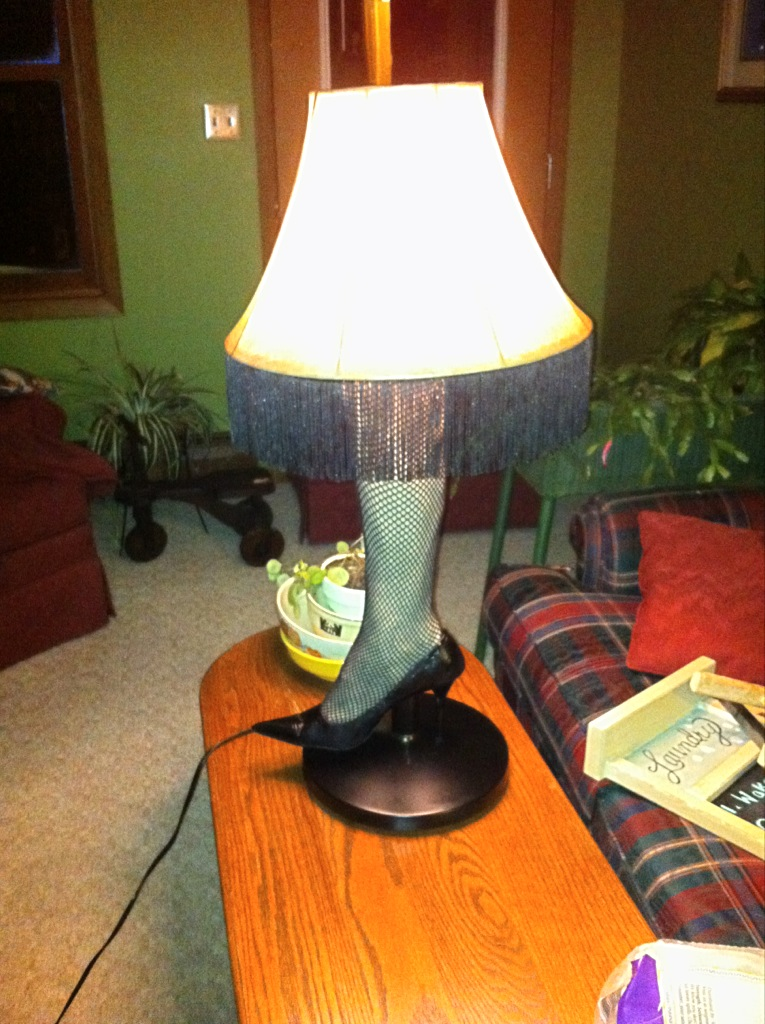 Life Makes Me Diy Leg Lamp From A Christmas Story