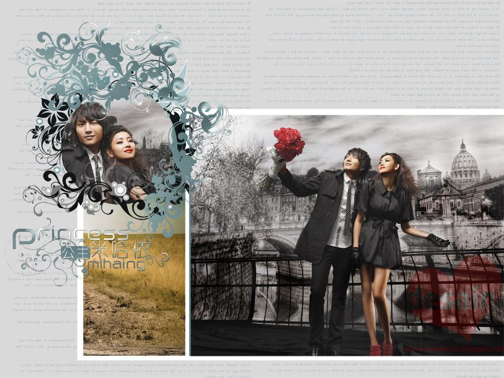 Download Pre Wedding Album Kolase Gratis Format PSD