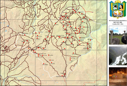 Mapa de Distrito de  Sucre
