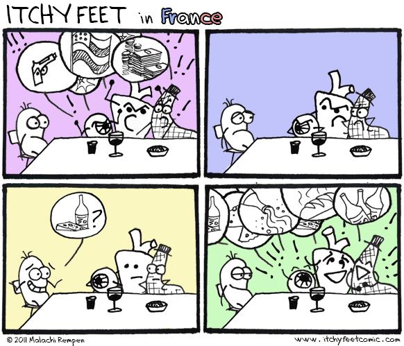 Itchy Feet: Le Typicàl Convèrsatiòn
