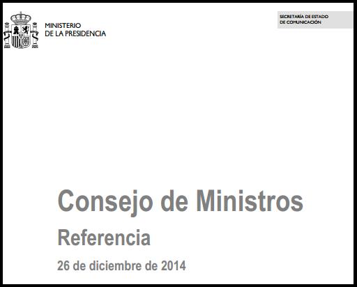 Consejo Ministros aprobación Anteproyecto Ley Auditoría de Cuentas